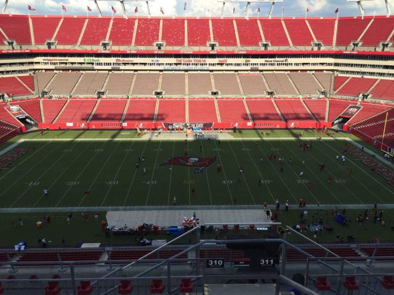Seating view for Raymond James Stadium Section 310 Row E Seat 24