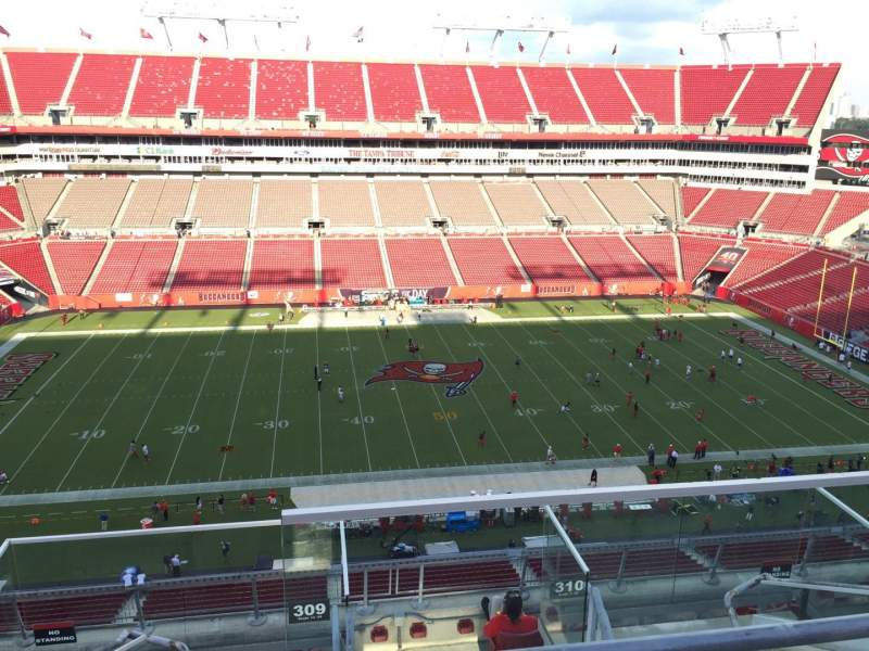Seating view for Raymond James Stadium Section 309 Row E Seat 24