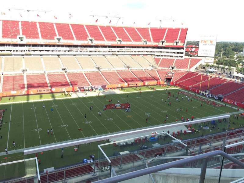 Seating view for Raymond James Stadium Section 307 Row E Seat 24
