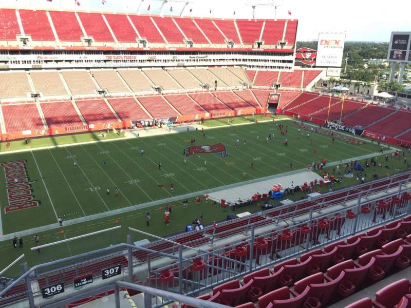 Seating view for Raymond James Stadium Section 306 Row E Seat 24