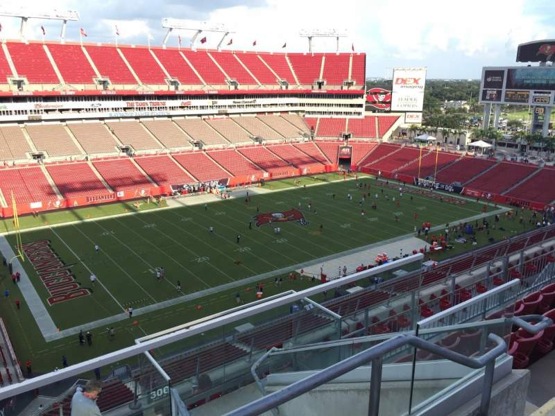 Seating view for Raymond James Stadium Section 305 Row E Seat 32