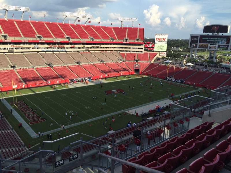 Seating view for Raymond James Stadium Section 304 Row E Seat 24