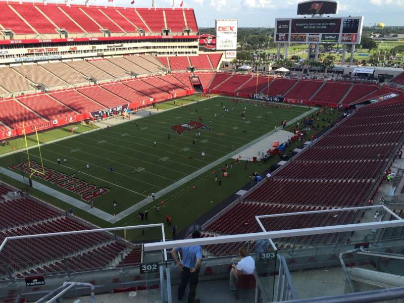 Seating view for Raymond James Stadium Section 302 Row E Seat 13
