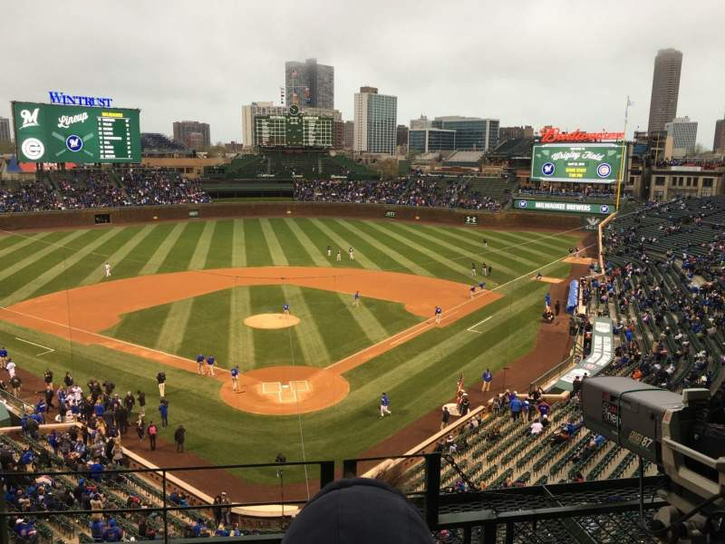 Seating view for Wrigley Field Section 421 Row 3 Seat 105