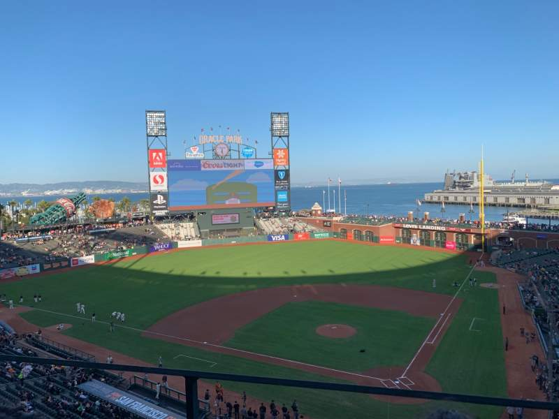 Seating view for Oracle Park Section VB319 Row B Seat 2