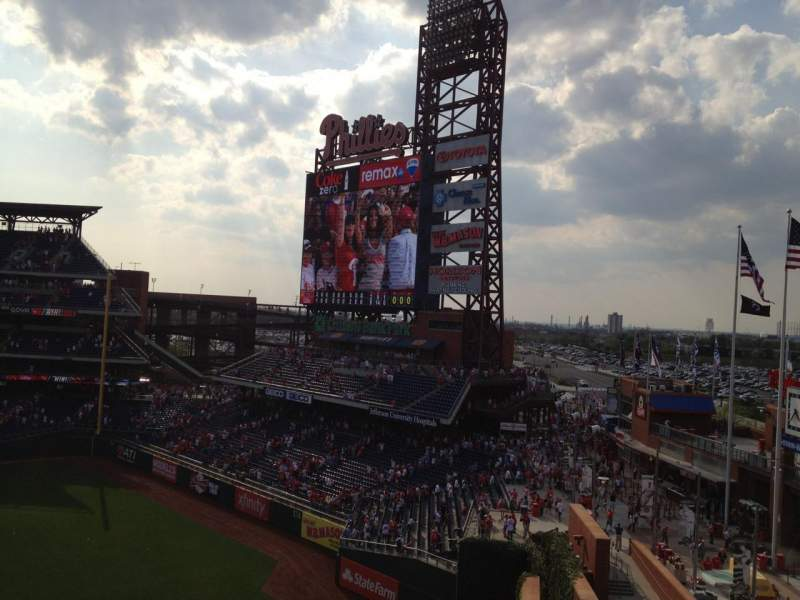 Seating view for Citizens Bank Park Section 301 Row 1 Seat 1