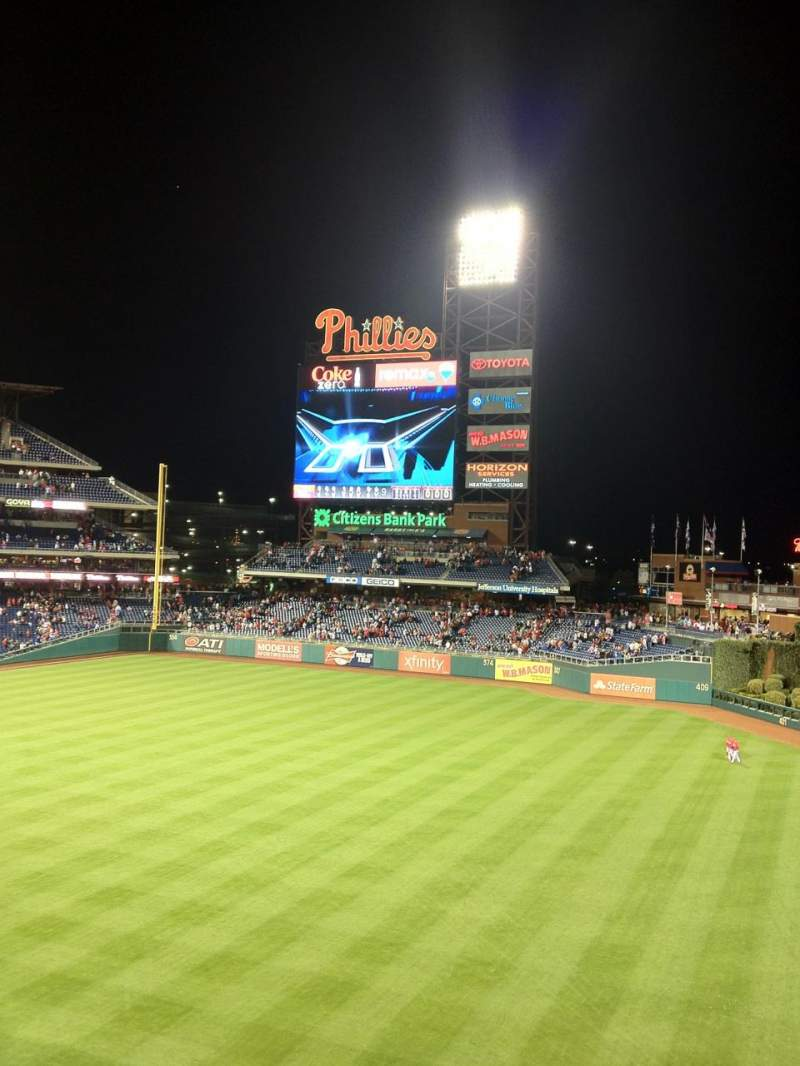 Seating view for Citizens Bank Park Section 208 Row 1 Seat 8