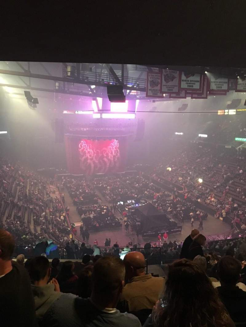 Seating view for US Bank Arena Section 239 Row Q Seat 11