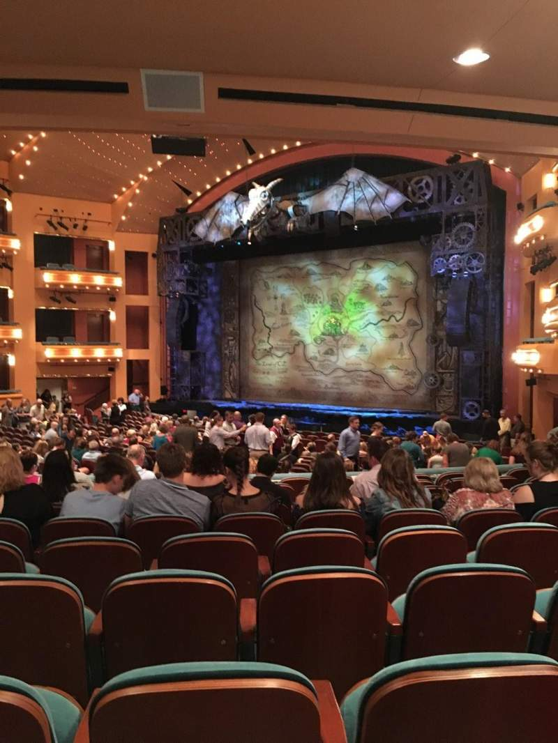 Seating view for Procter And Gamble Hall at the Aronoff Center Section Rear Orchestra R Row Y Seat 319
