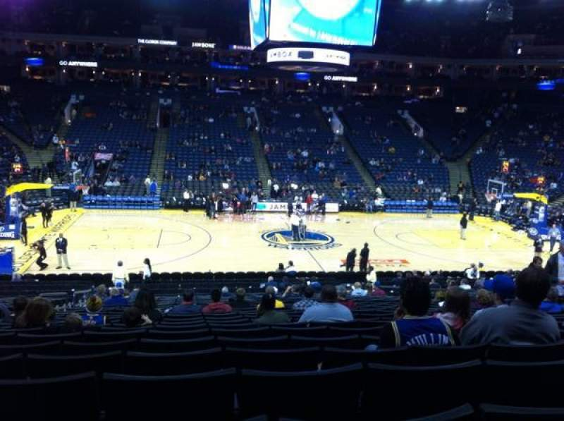 Seating view for Oracle Arena Section 115 Row 22 Seat 9
