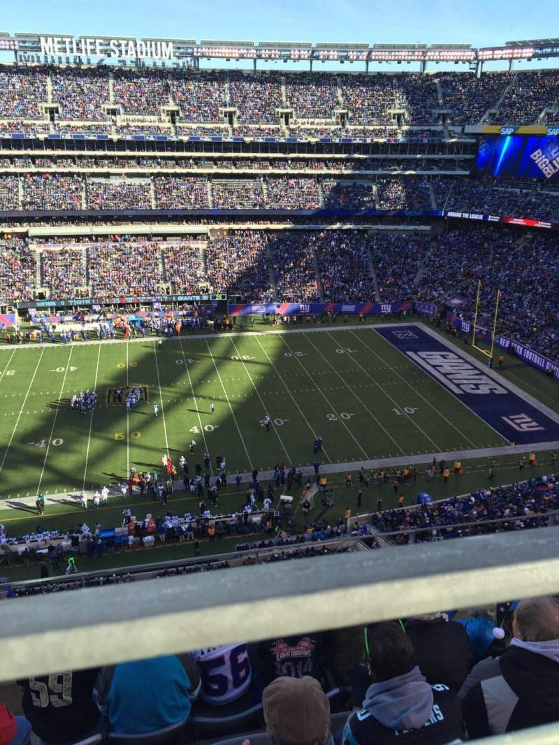 Seating view for MetLife Stadium Section 338 Row 5 Seat 22