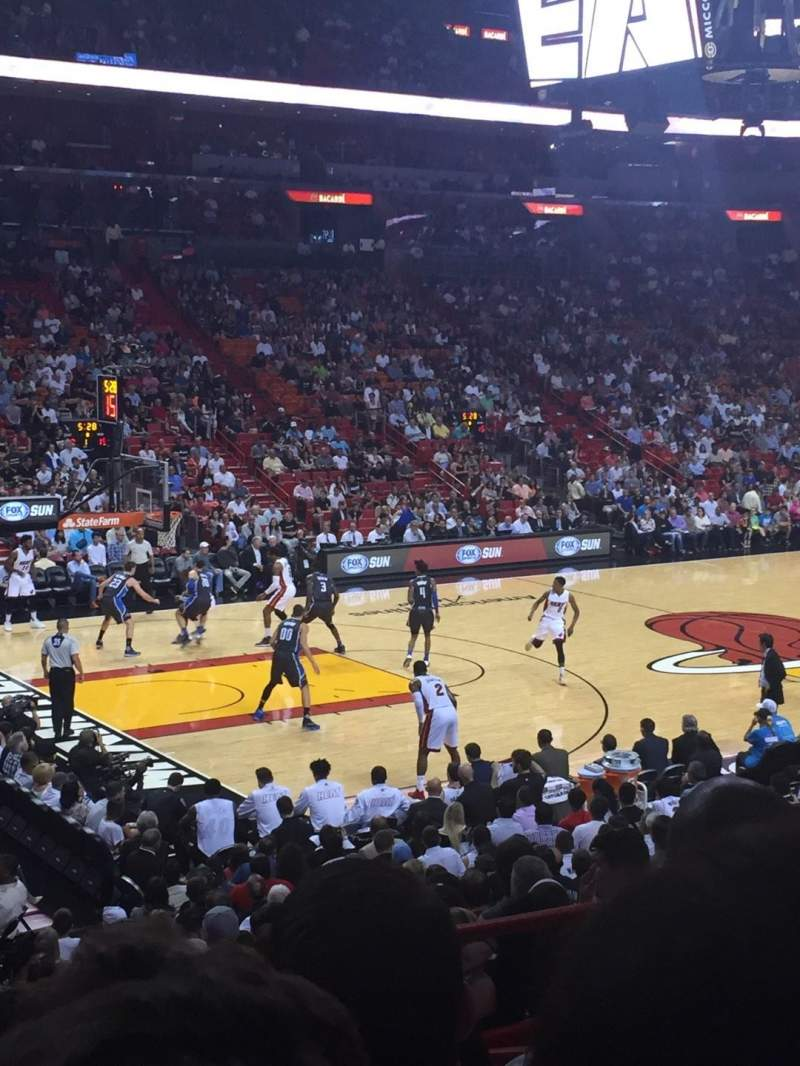 Seating view for American Airlines Arena Section 109 Row 18 Seat 4