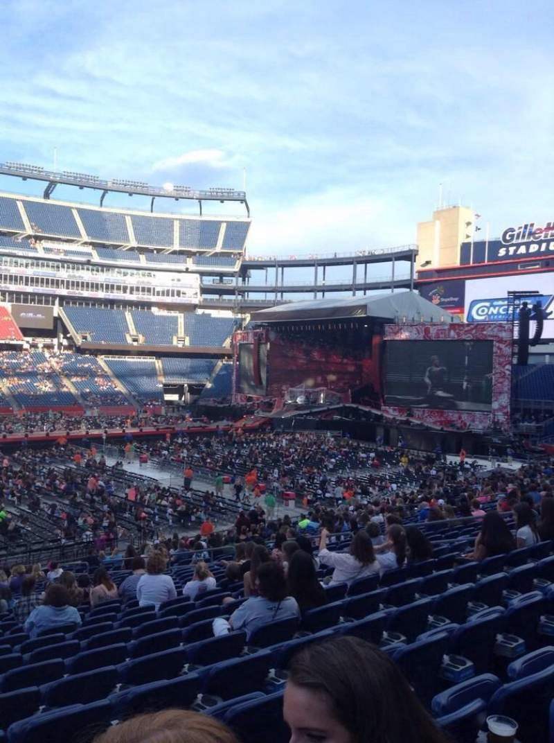 Seating view for Gillette Stadium Section 132 Row 29 Seat 20