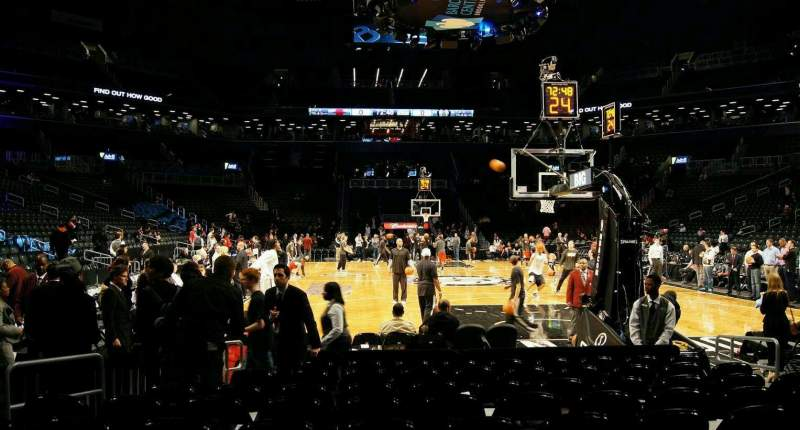 Seating view for Barclays Center Section 1 Row 4 Seat 7