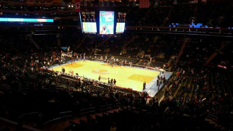 Seating view for Madison Square Garden Section 213 Row 1 Seat 23
