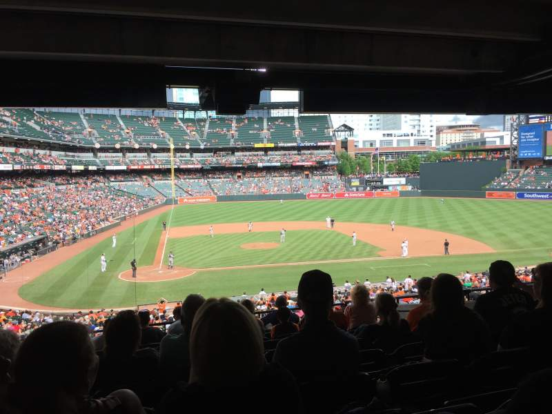 Seating view for Oriole Park at Camden Yards Section 27 Row 10 Seat 13