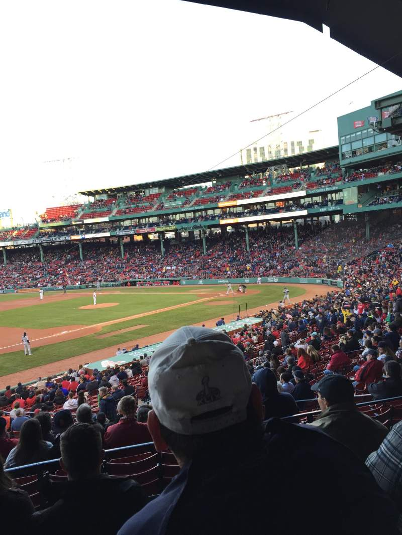 Seating view for Fenway Park Section Grandstand 29 Row 5 Seat 15