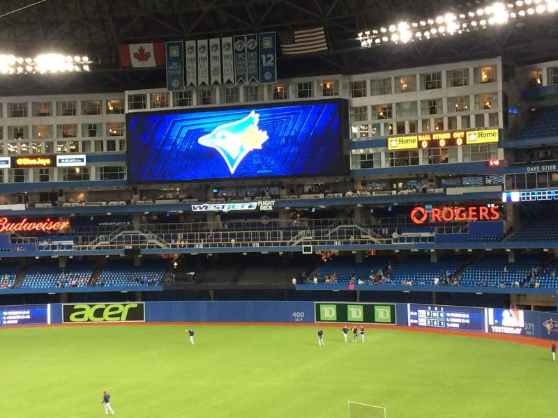 Seating view for Rogers Centre Section 515R Row 3 Seat 2