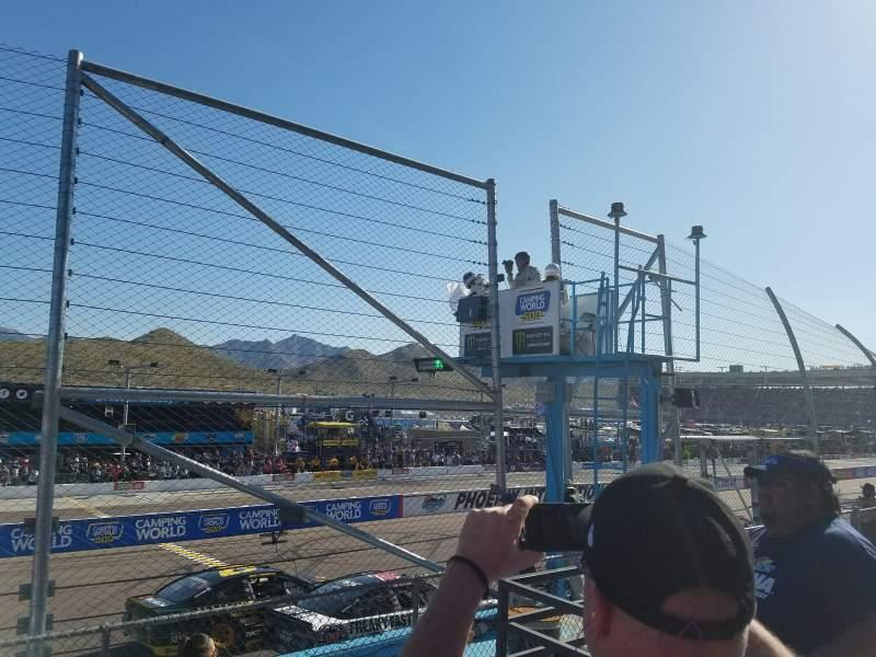 Seating view for Phoenix International Raceway Section Bryan AA Row 2 Seat 6