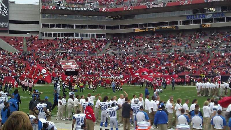 Seating view for Raymond James Stadium Section 136 Row E Seat 9