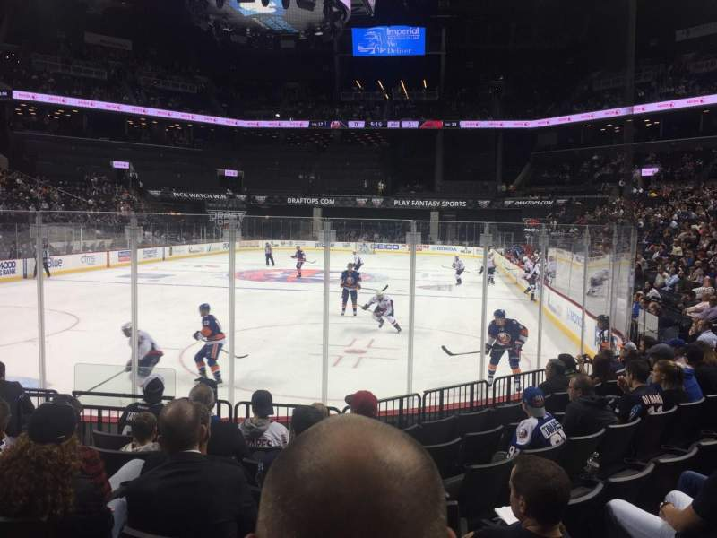Seating view for Barclays Center Section 15 Row 8 Seat 3