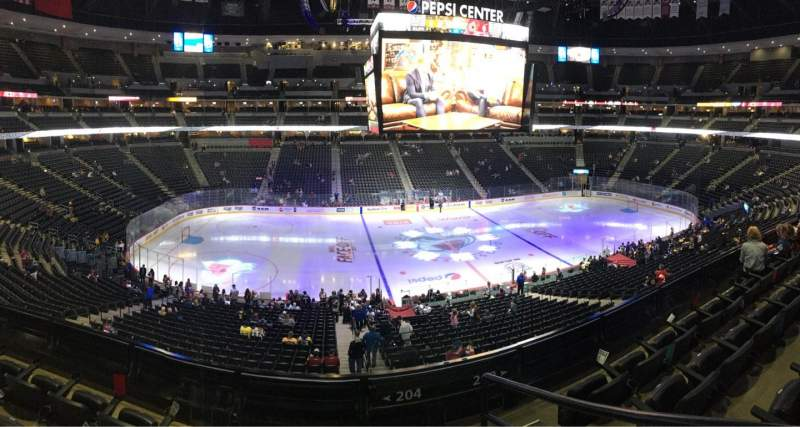 Seating view for Pepsi Center Section 204 Row 4 Seat 1,2,3,4