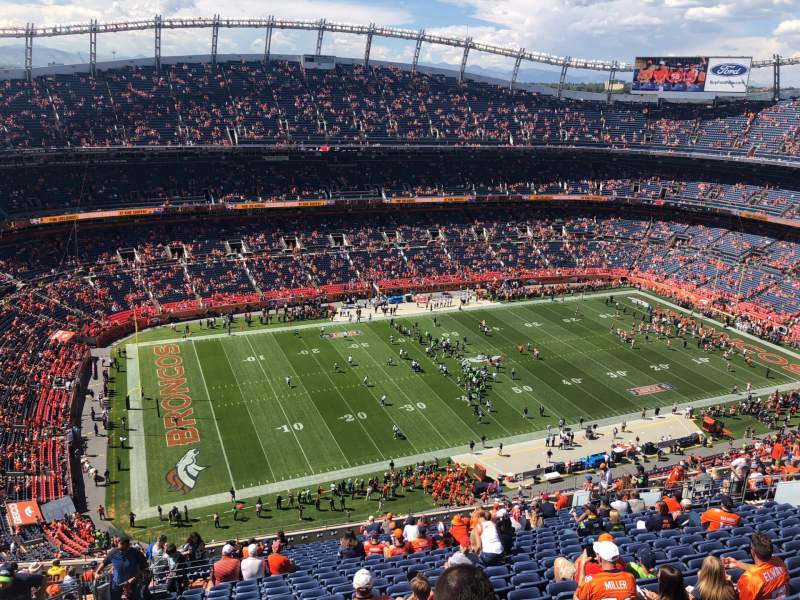 Seating view for Broncos Stadium at Mile High Section 538 Row 23 Seat 24