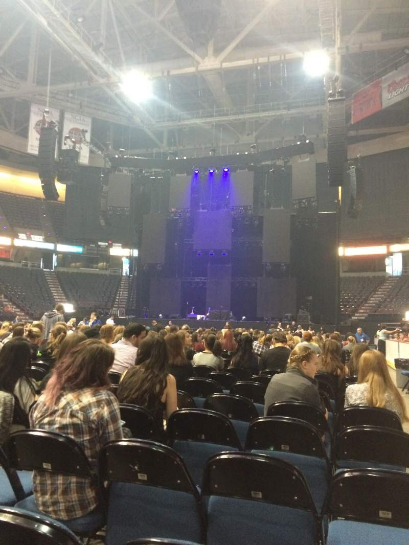 Seating view for Times Union Center Section Floor 6 Row R Seat 1