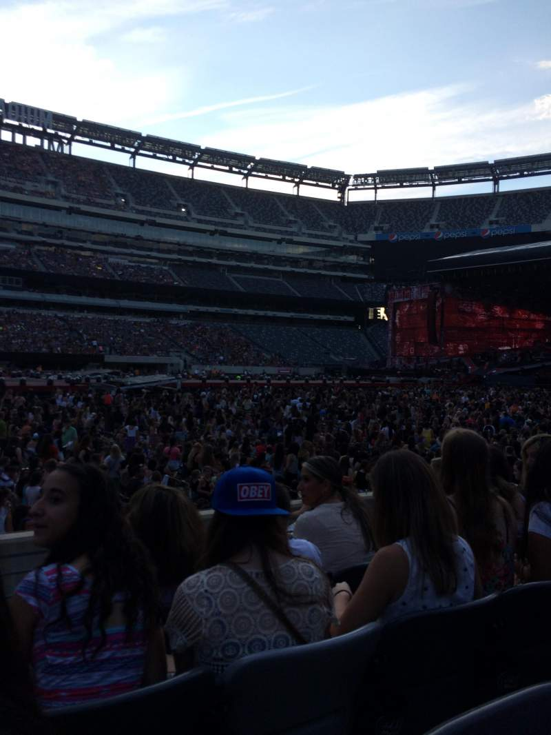 Seating view for MetLife Stadium Section 115A Row 7 Seat 8