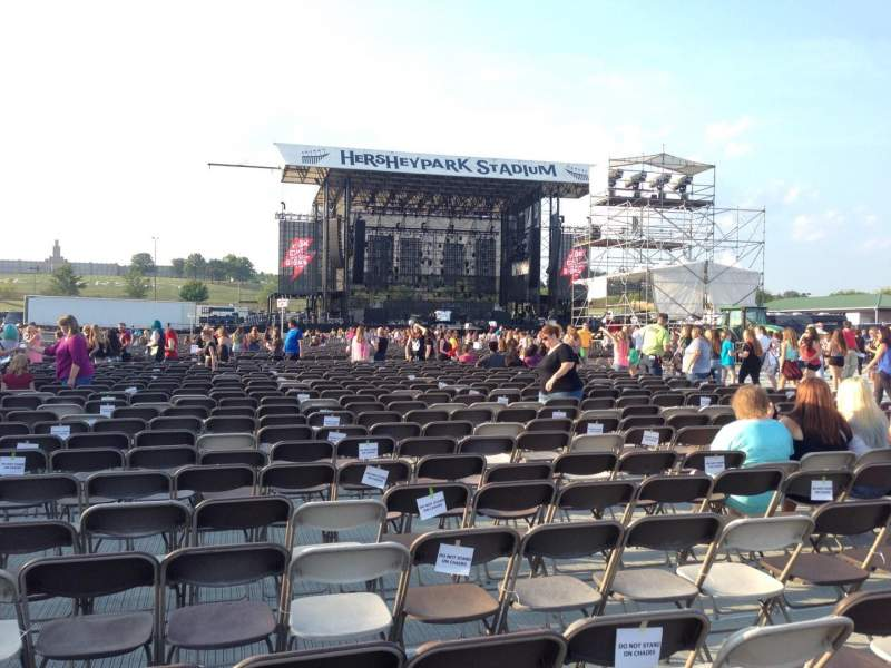 Seating view for Hershey Park Stadium Section G