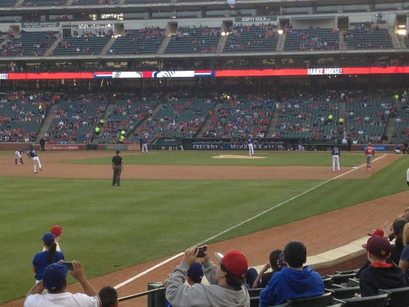 Seating view for Globe Life Park in Arlington Section 12 Row 9 Seat 1