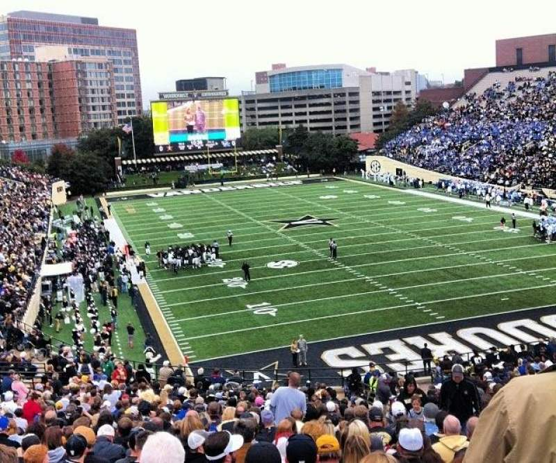 Seating view for Vanderbilt Stadium Section J Row 40 Seat 13