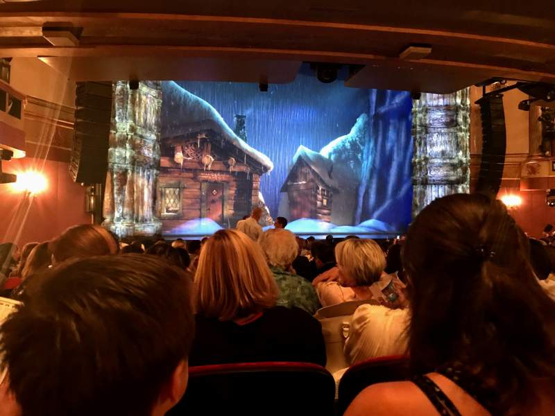 Seating view for St. James Theatre Section Orchestra L Row P Seat 15
