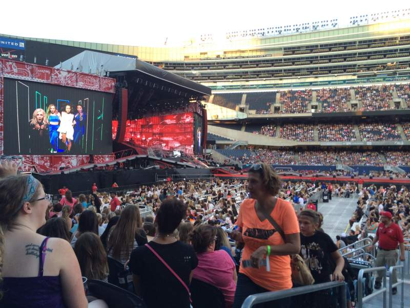 Seating view for soldier field Section 140 Row 11 Seat 1