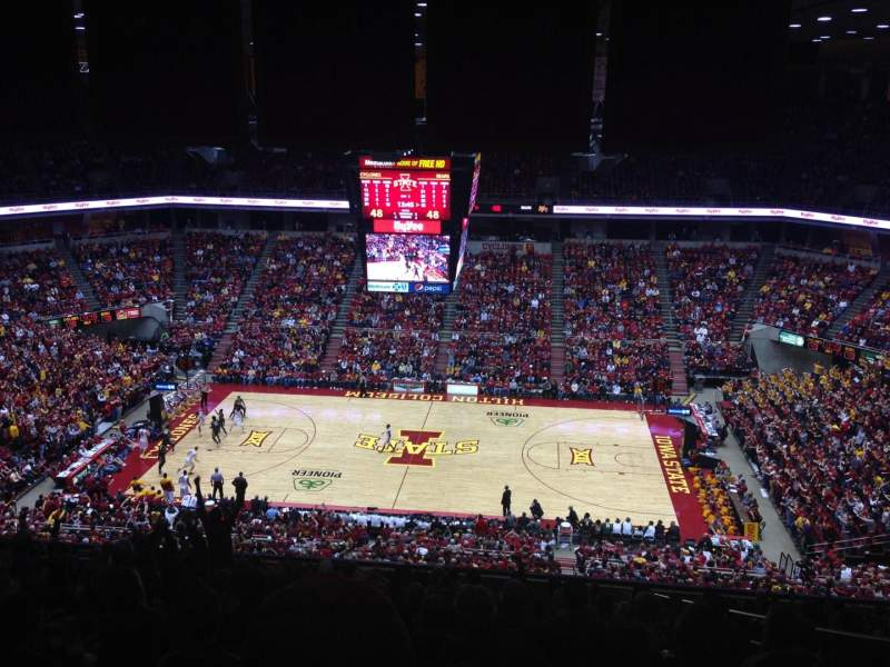 Seating view for Hilton Coliseum Section 211 Row 17 Seat 5