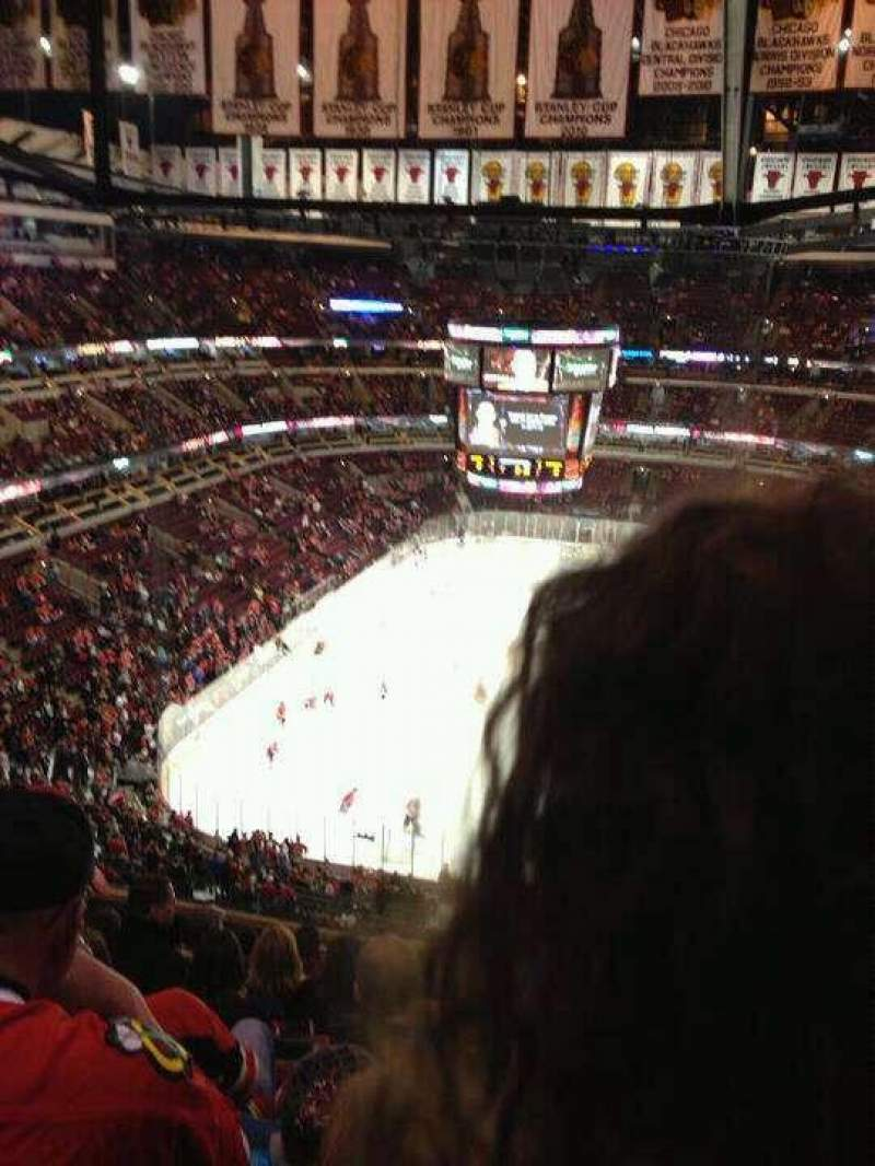Seating view for United Center Section 308 Row 12