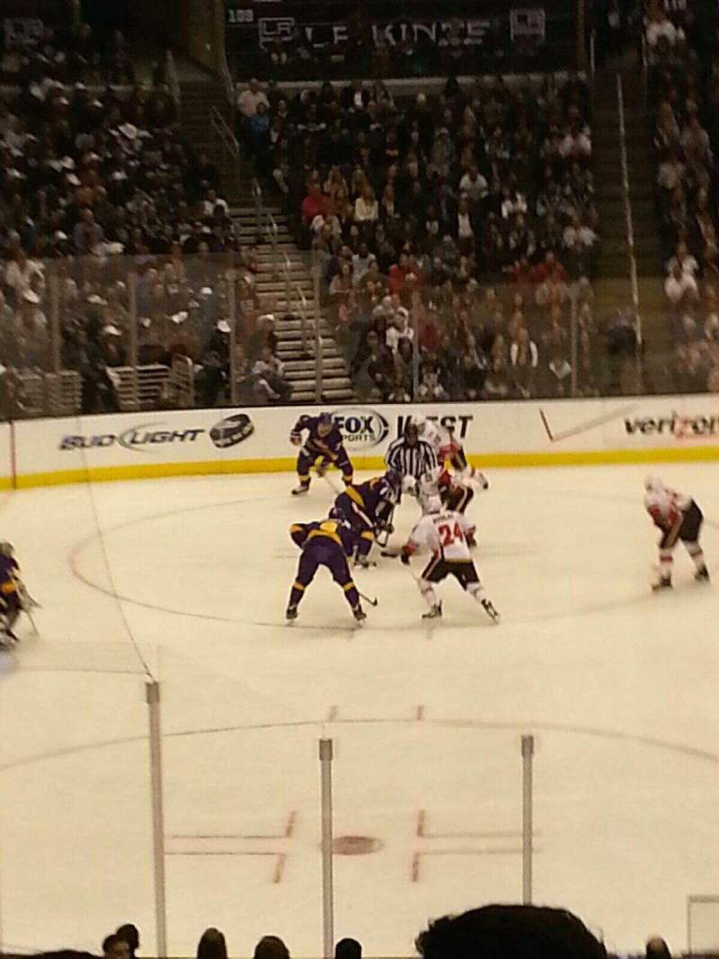Seating view for Staples Center Section PR7 Row 6 Seat 1