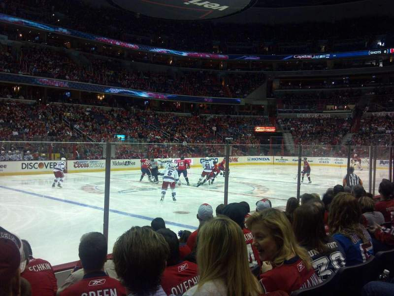 Seating view for Capital One Arena Section 110 Row F Seat 2