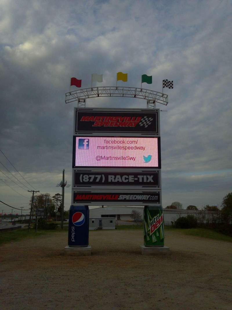 Seating view for Martinsville Speedway Section Lots