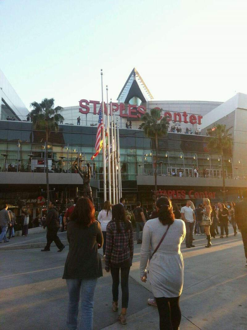 Seating view for Staples Center Section Outside