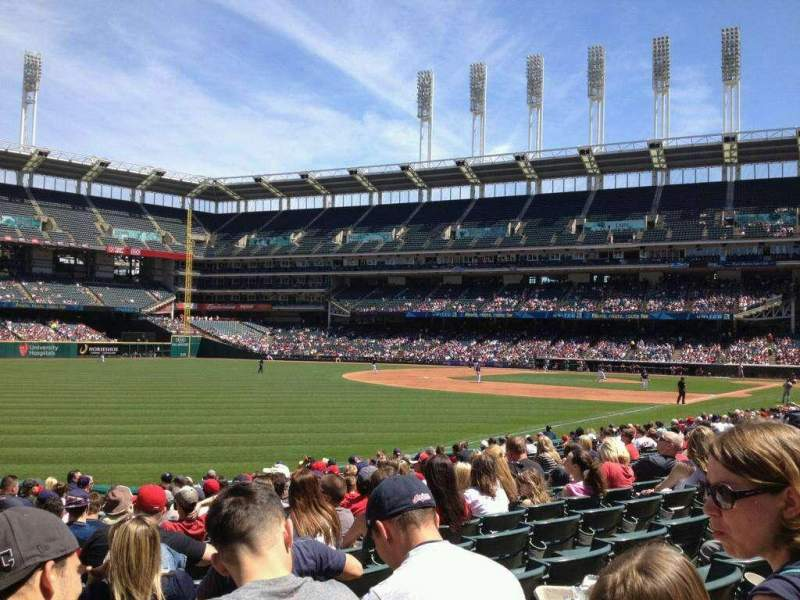Seating view for Progressive Field Section 175 Row T