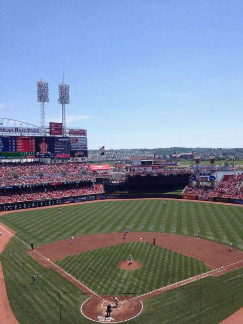 Seating view for Great American Ball Park Section 425 Row D Seat 15