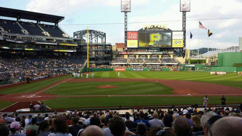 Seating view for PNC Park Section 112 Row Q Seat 12