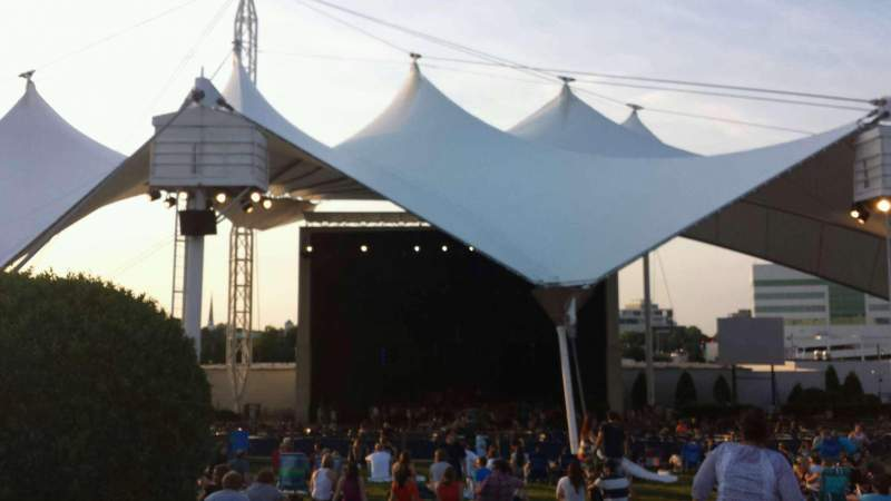 Seating view for Portsmouth Pavilion Section Lawn