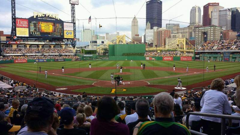 Seating view for PNC Park Section 116 Row Q Seat 2
