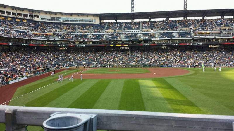 Seating view for PNC Park Section 144 Row A Seat 3