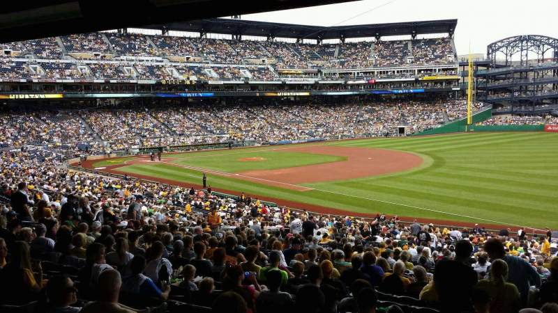 Seating view for PNC Park Section 103 Row HH Seat 1