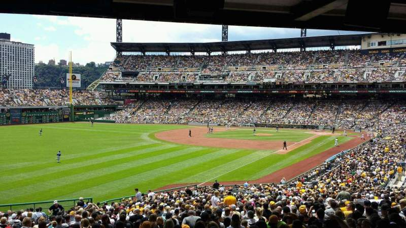 Seating view for PNC Park Section 131 Row HH Seat 11