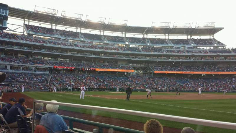 Seating view for Nationals Park Section 134 Row D Seat 22