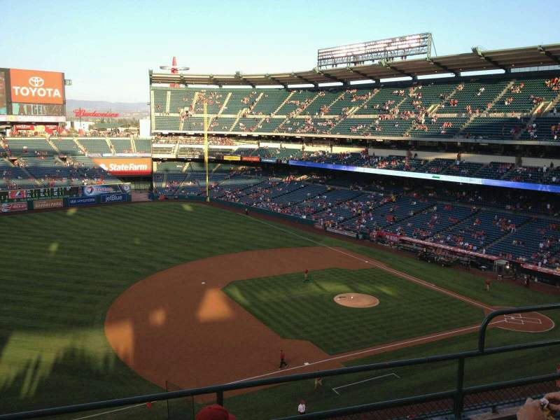Seating view for Angel Stadium Section V410 Row 4 Seat 19